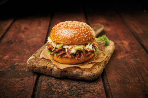 Seeded Burger With Pulled Pork